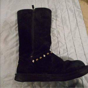 UGG Shoes - Uggs sz Black Aztec stones shearling suede boots